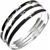 Bracelet Thierry Mugler Bijoux Acier Email Bicolore T11251SN - Promos