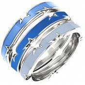 Bague Thierry Mugler Bijoux Acier Bleue Chic T21251SB - Promos