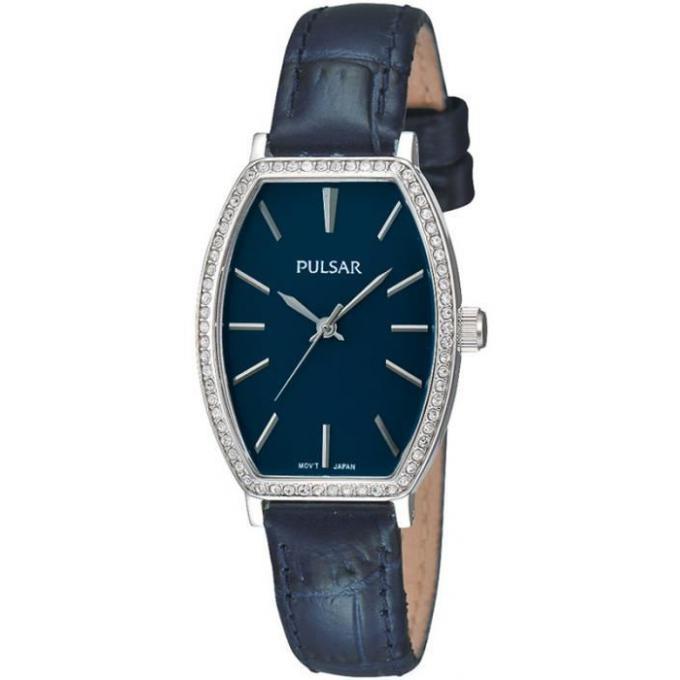 montre pulsar montre ph8071x1 montre bleue rectangulaire cuir femme sur bijourama n 1 de la. Black Bedroom Furniture Sets. Home Design Ideas