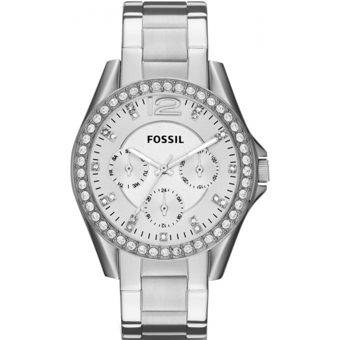 montre femme fossil acier