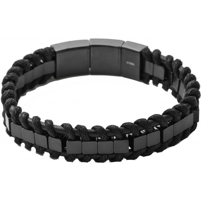 bracelet diesel dx0812060 bracelet cuir noir clip homme. Black Bedroom Furniture Sets. Home Design Ideas