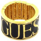 Bague Guess Bijoux Extensible Doré Noir UBR91312