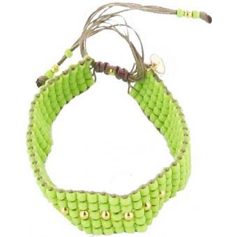 Bracelet L BY L AVARE PBRT5V-VERT - Bracelet Perles Vertes Fashion Femme - L by L'Avare