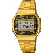 Casio - Montre Casio Retro Vintage A168WEGC-3EF - Montre Casio Vintage