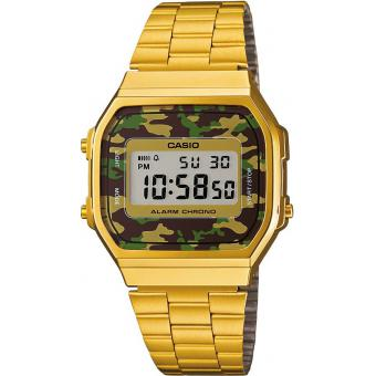 Casio - Montre Casio Retro Vintage A168WEGC-3EF - Montre casio etanche