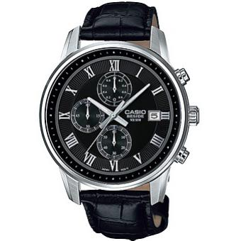 Montre Casio Collection BEM-511L-1AVEF - Montre Dateur Cuir Homme