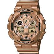Montre Casio G-Shock Multifonction GA-100GD-9AER - Or rose