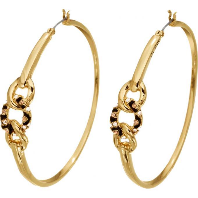 boucles d 39 oreilles guess bijoux ube51448 boucles d 39 oreilles m tal dor sur bijourama votre. Black Bedroom Furniture Sets. Home Design Ideas