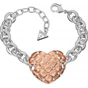 Bracelet Guess Bijoux Or Rose Strass UBB51449