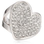 Guess - Bague Cœur En Métal Argenté - Guess bijoux