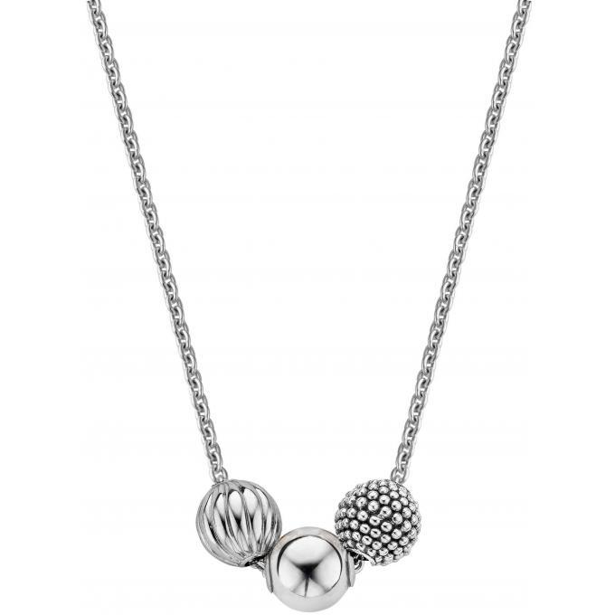 Image of Collier et pendentif Ti Sento 3831SB-42 - Collier et pendentif Boules Argent Femme