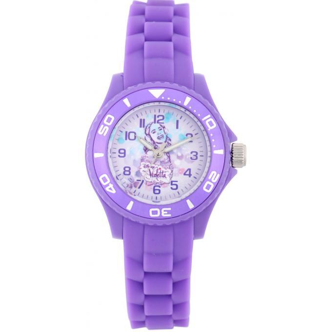 Promo : Montre Disney W001566-75018 - Montre Violetta Rose Parme Enfant