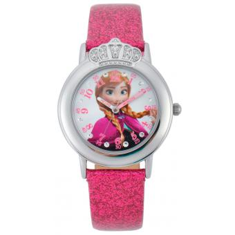 Montre Disney W001807 - Montre Reine des Neiges Anna Rose Fille