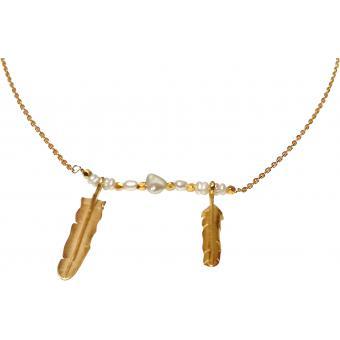 Collier Feuilles Perles De Culture Blanches - Corpus christi - Corpus Christi