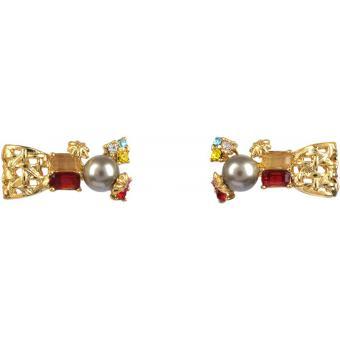 Boucles d'oreilles dorées strass - Les Néreides - AADI105T - Les Néréides