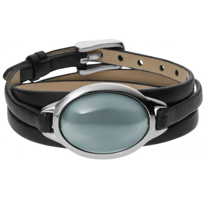 bracelet skagen sea skj0390040 bracelet cuir noir verre femme sur bijourama r f rence des. Black Bedroom Furniture Sets. Home Design Ideas