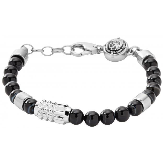 bracelet diesel dx0847040 bracelet agate noir argent homme sur bijourama r f rence des. Black Bedroom Furniture Sets. Home Design Ideas
