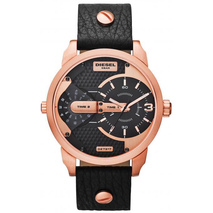 montre diesel dz7317 montre or rose cuir homme sur bijourama montre homme pas cher en ligne. Black Bedroom Furniture Sets. Home Design Ideas