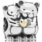 Charms Pandora Ourson Argent Mini Coeur Or 791395 - Animaux