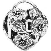 Charms Pandora Coeur Floral Argent 791397