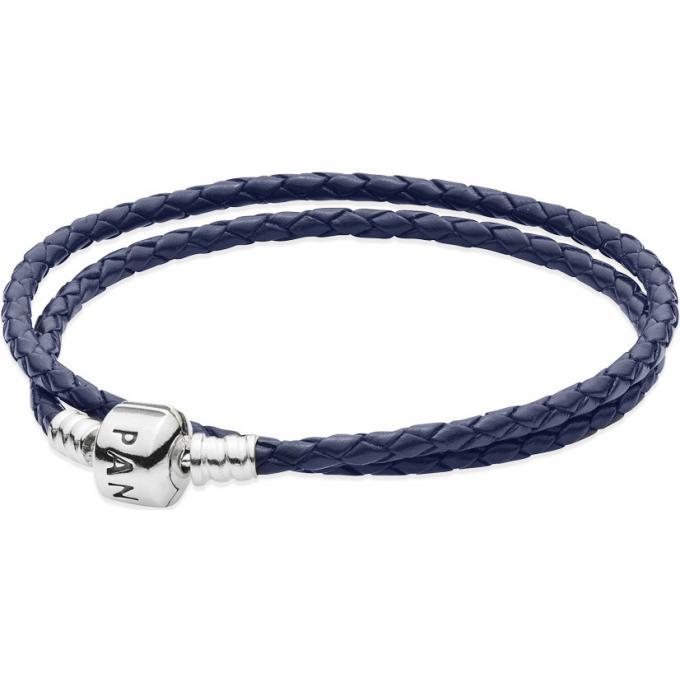 bracelet cuir bleu pandora