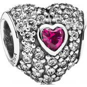Charms Pandora Triple Coeur Argent 791168SRU