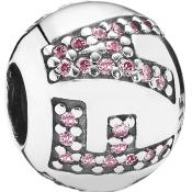 Charm Pandora 791417PCZ - Charm FAITH Rose (Foi)