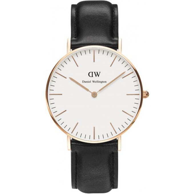 montre daniel wellington dw00100036 montre cuir noire. Black Bedroom Furniture Sets. Home Design Ideas