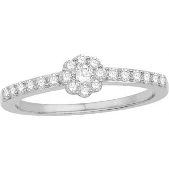 Bague Stella Prestige DPSSOD2378W9 - Bague Duo 24 Diamants Or Blanc Femme