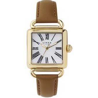 Montre Links of London 6010.0426 - Montre Carrée Vintage Cuir Femme