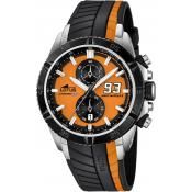 Montre Lotus L18103-1 - Montre Chronographe Orange Noir Homme