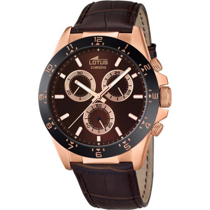 montre lotus l18158 3 montre cuir chronographe ros e homme sur bijourama montre homme pas. Black Bedroom Furniture Sets. Home Design Ideas