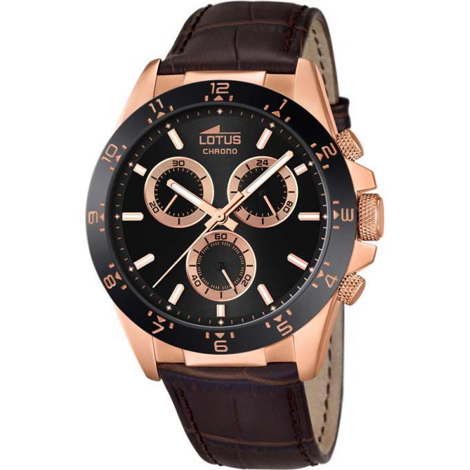 montre lotus l18158 4 montre ronde chronographe ros e homme sur bijourama montre homme pas. Black Bedroom Furniture Sets. Home Design Ideas