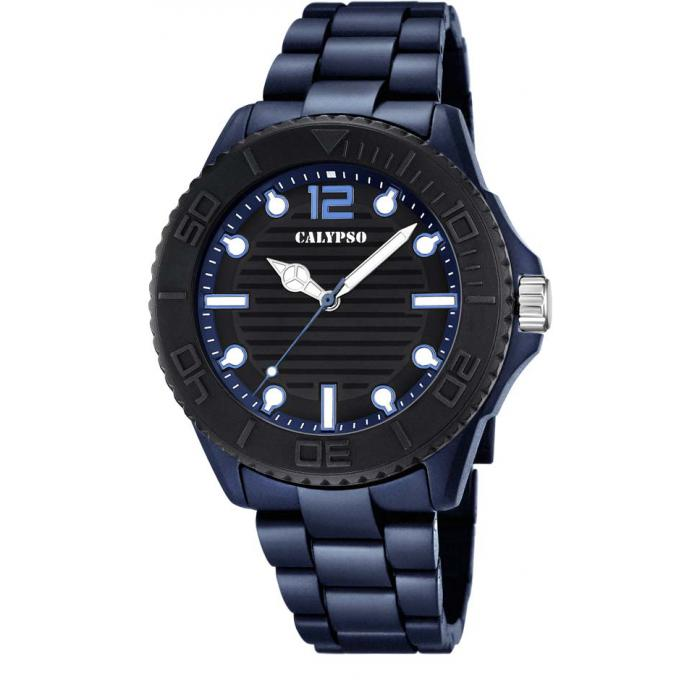 montre calypso k5645 4 montre ronde bleue urbaine gar on sur bijourama n 1 de la montre homme. Black Bedroom Furniture Sets. Home Design Ideas