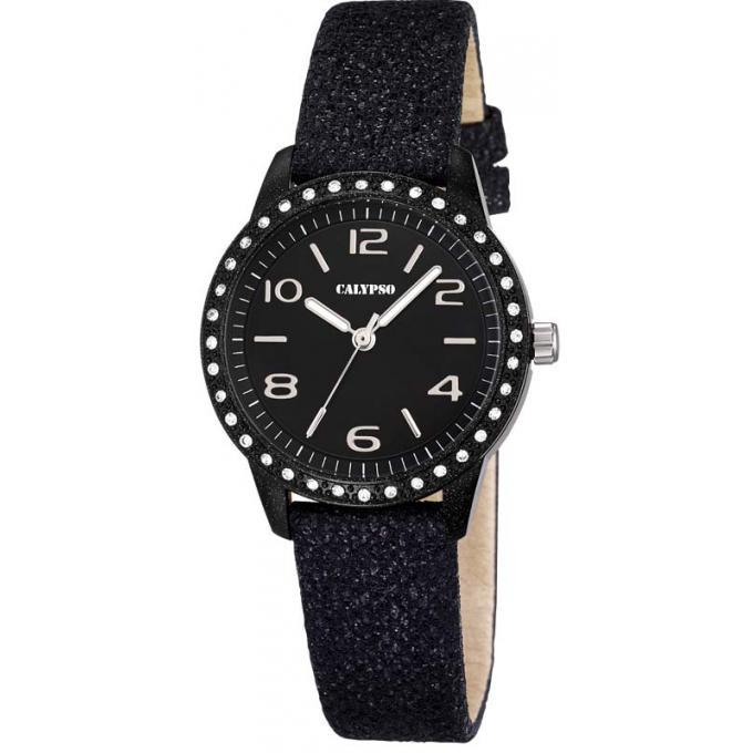 montre calypso k5652 4 montre ronde brillante noir fille sur bijourama n 1 de la montre homme. Black Bedroom Furniture Sets. Home Design Ideas