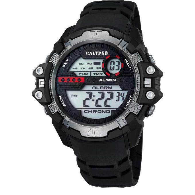 montre calypso k5656 1 montre ronde multifonction noir gar on sur bijourama n 1 de la montre. Black Bedroom Furniture Sets. Home Design Ideas