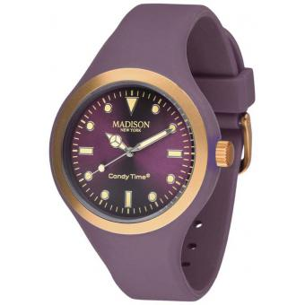 Montre Madison SU4744PU - Montre Ronde Léger Violette Mixte