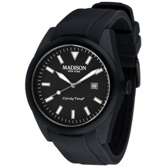 Montre Madison SU4748N - Montre Ronde Noir Originale Mixte