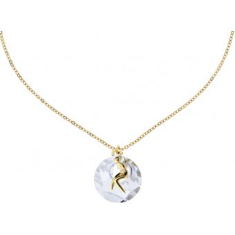 Collier Jourdan BR238 - Collier Laiton Doré Brillant Femme