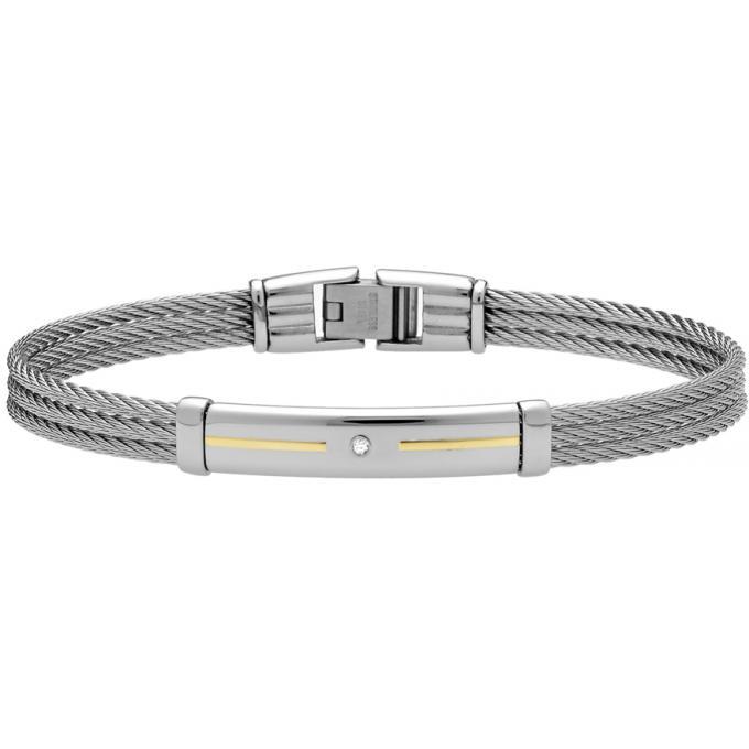 bracelet jourdan fz143h bracelet acier tress strass homme sur bijourama votre r f rence des. Black Bedroom Furniture Sets. Home Design Ideas