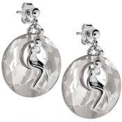 Boucles d'oreilles Jourdan Cristal Fumées Argent ABR006 - Promos