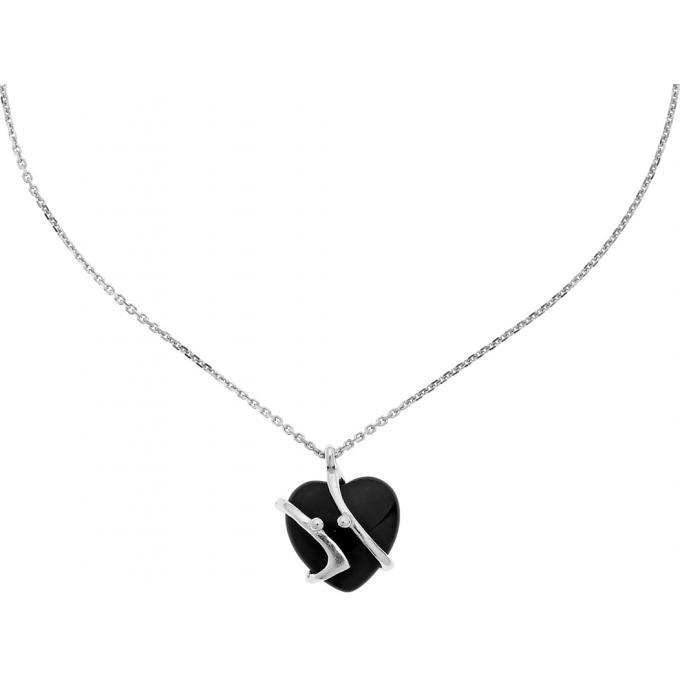 collier jourdan abr013 collier argent onyx noir femme sur bijourama r f rence des bijoux. Black Bedroom Furniture Sets. Home Design Ideas
