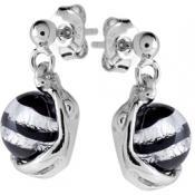 Boucles d'oreilles Jourdan Argent Perles Noires ABR051 - Promos