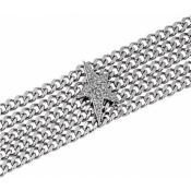 Bracelet Thierry Mugler Bijoux Acier Argenté Original T51258Z - Promos