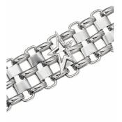 Bracelet Thierry Mugler Bijoux Acier Ajouré Argenté T51266Z