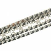 Bracelet Thierry Mugler Bijoux Brillant Argenté Vintage T51268Z