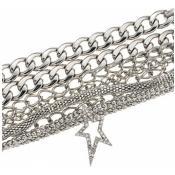 Bracelet Thierry Mugler Bijoux Multi Chaine Argenté T51273Z
