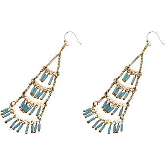 Boucles d'oreilles Nakamol WEX1314_LTBUGD - Boucles d'oreilles Turquoise Dorées Femme - Nakamol