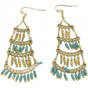 Boucles d'oreilles Nakamol WEX1314_TQGD - Nakamol - Turquoise