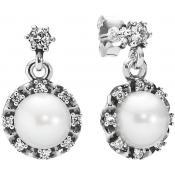 Boucles d'oreilles Pandora Argent Perle Blanche 290562P - Blanc